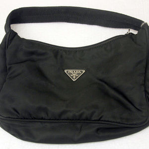 PRADA Small Nylon Evening Bag Handbag Black